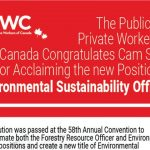 The PPWC Congratulates Cam Shiell for Acclaiming the new Position of Environmental Sustainability Officer!