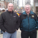 First Vice President Frank Robertson with Len Shankel, retiree from Local 9 Prince George