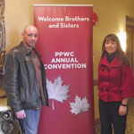 CCU Vice-President John Hanrahan and President Joanie Cameron Pritchett