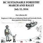 BC Sustainable Forestry Rally on July 22 in Port Alberni