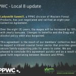 Ladysmith Sawmill – PPWC Local 8 Collective Agreement Update