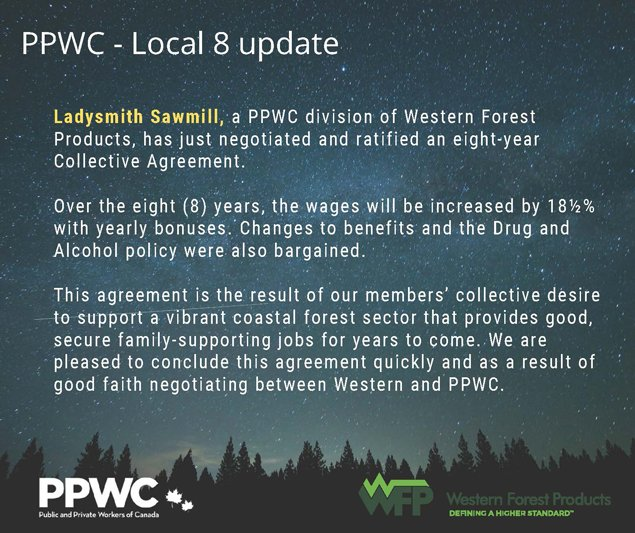Ladysmith-Sawmill---PPWC-Local-8-Collective-Agreement-Update