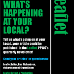 What's happening at your Local? Seeking contributions for the spring edition of the Leaflet