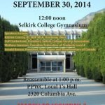 Rally and March on September 30 in Castlegar
